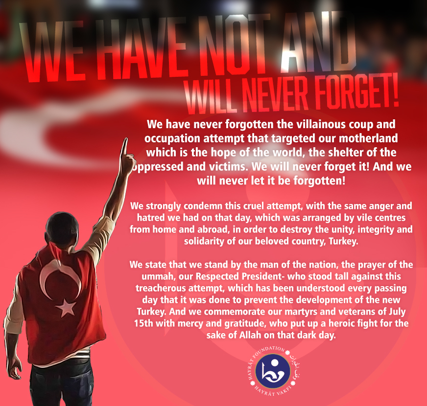 We have not, and will never forget!